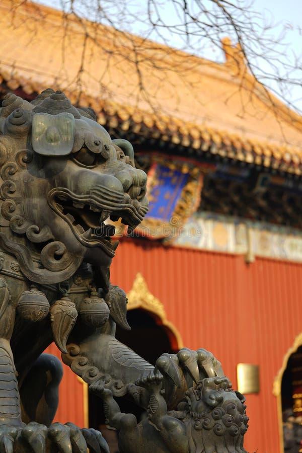 北京喇嘛寺庙 库存照片