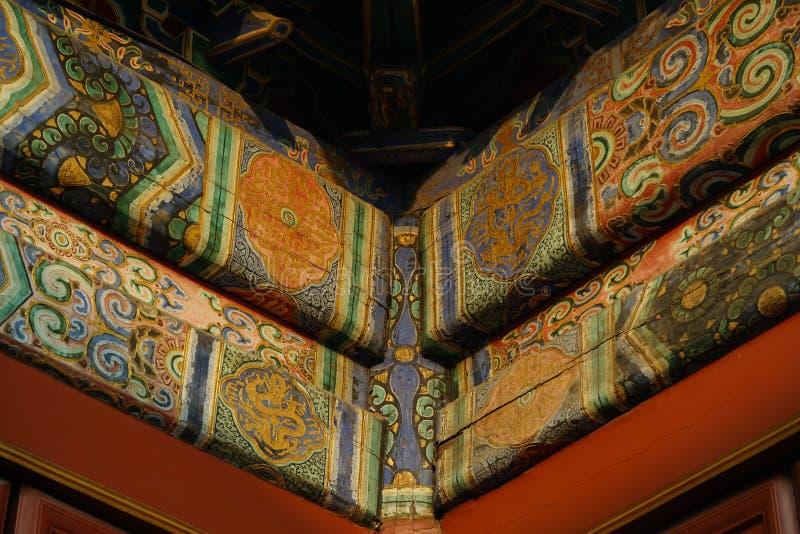 北京喇嘛寺庙 免版税库存图片