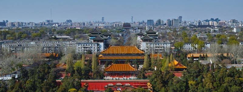 北京市中心线的北部部分  免版税库存图片