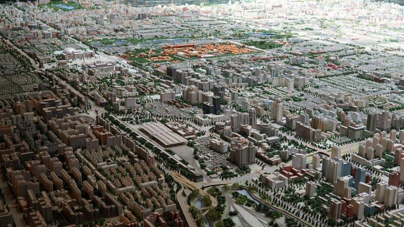 北京市概略的看法  免版税库存照片