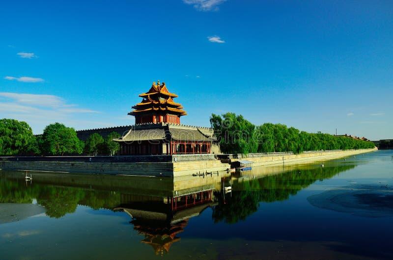 北京故宫塔楼 库存照片