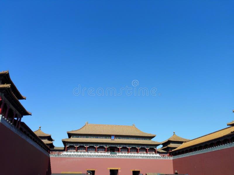 北京故宫子午线门 免版税图库摄影