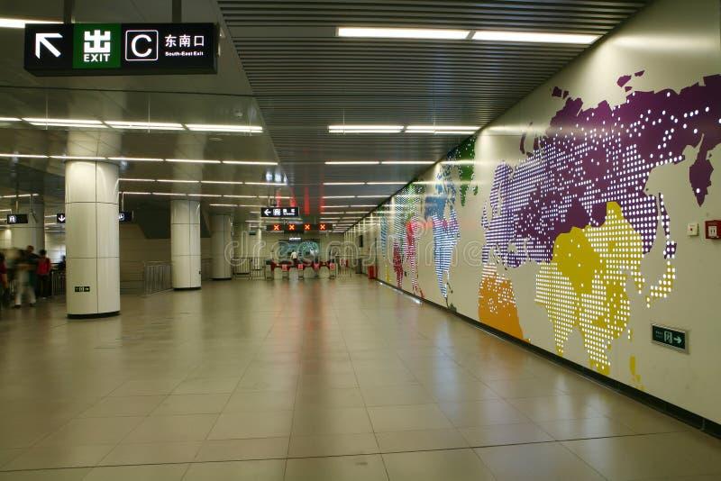 北京映射地下墙壁 库存照片