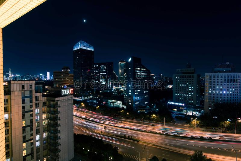 北京晚上 库存图片