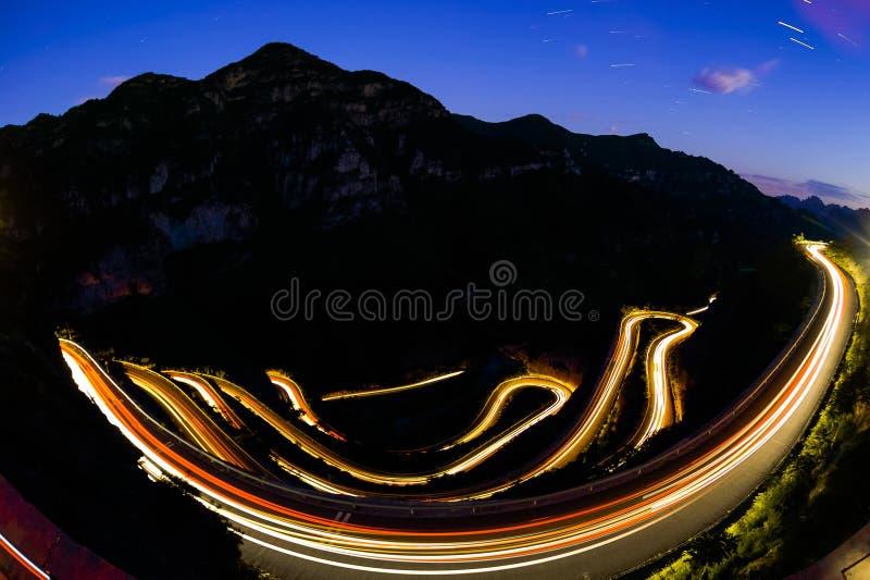 北京有星的螺旋路 免版税库存图片