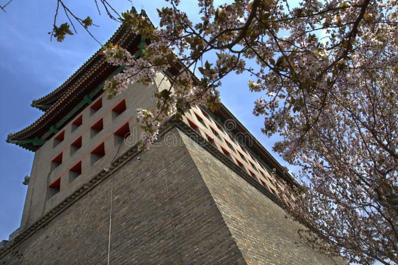 北京朝代ming的公园遗物墙壁 库存照片