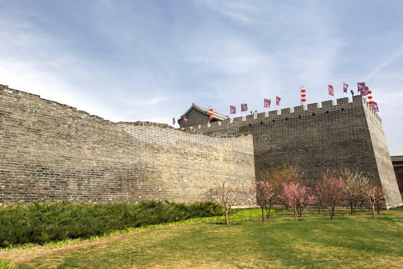 北京朝代ming的公园遗物墙壁 图库摄影