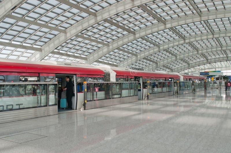 北京机场快车 图库摄影