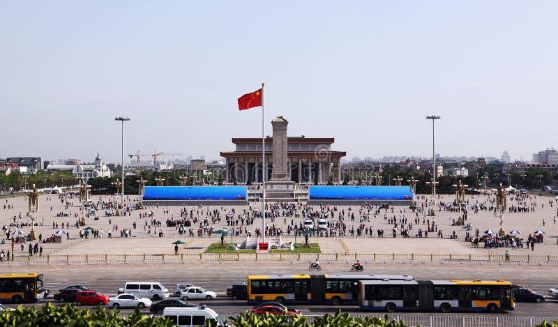 北京瓷正方形天安门 库存图片