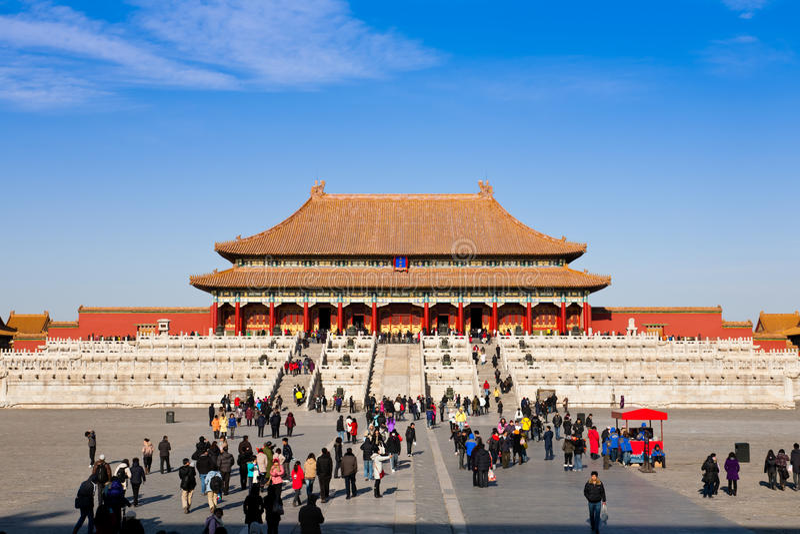 北京瓷皇家宫殿 免版税库存图片