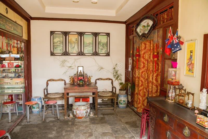 北京瓷 中国内部公寓 库存图片