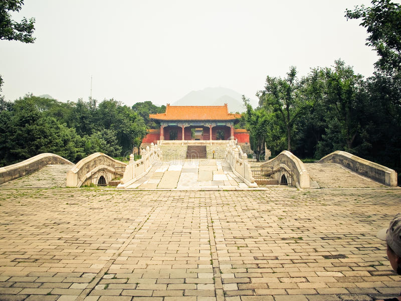 北京瓷ming的坟茔 图库摄影