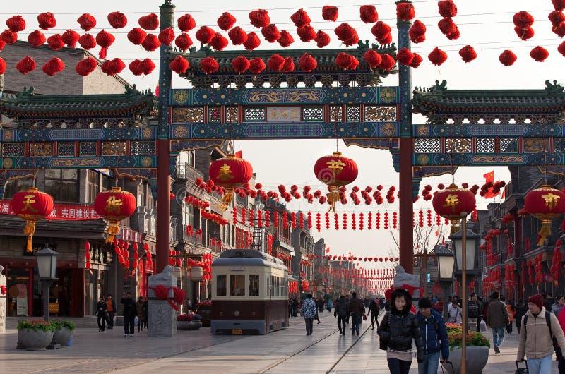北京瓷qianmen街道 免版税图库摄影