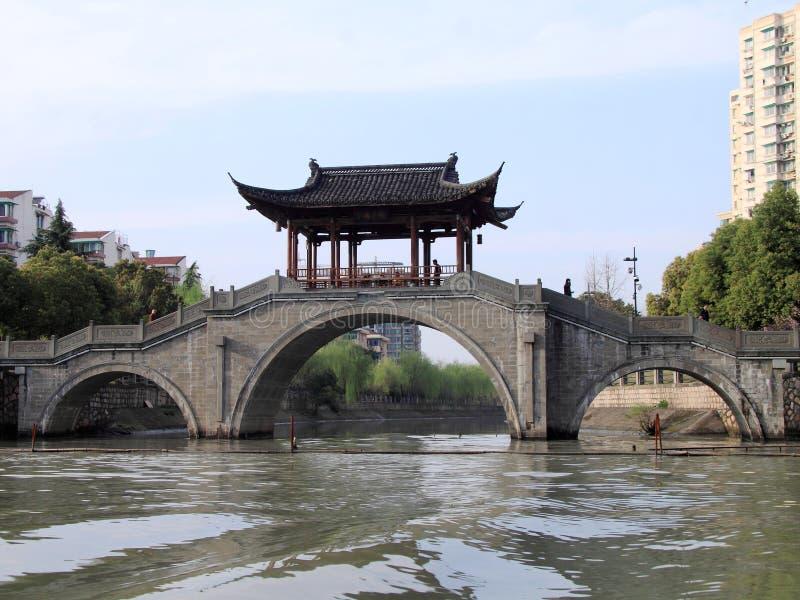 从北京的大运河向杭州 免版税库存照片
