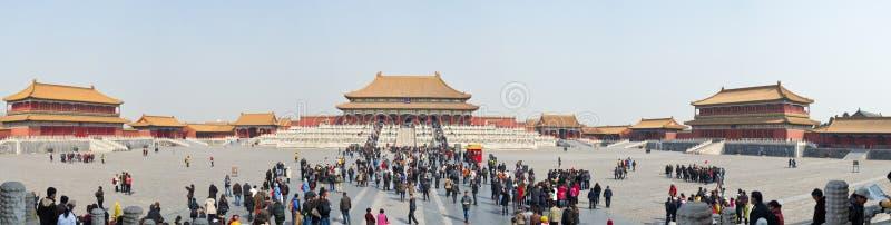 北京紫禁城全景 免版税图库摄影