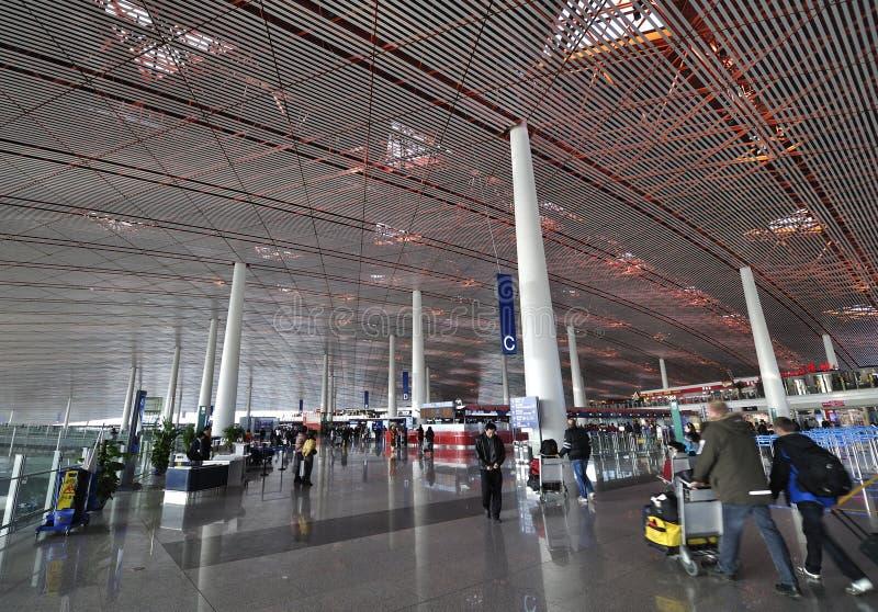 北京资本机场 免版税库存图片
