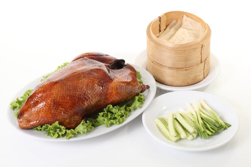 北京鸭和粤式点心 库存图片