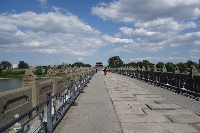 北京,中国,马可・波罗桥梁 库存照片