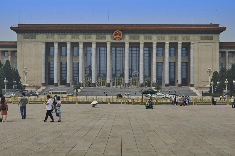 北京,中国- 2019年6月:北京人民大会堂 免版税库存照片