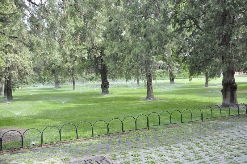 北京,第7可以:从著名天坛公园的风景在北京 免版税图库摄影
