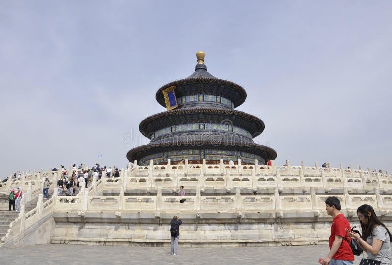北京,第7可以:祷告的霍尔关于从天坛的好收获细节在北京 免版税图库摄影