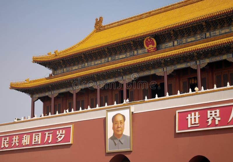 北京-天堂般的和平门  库存图片