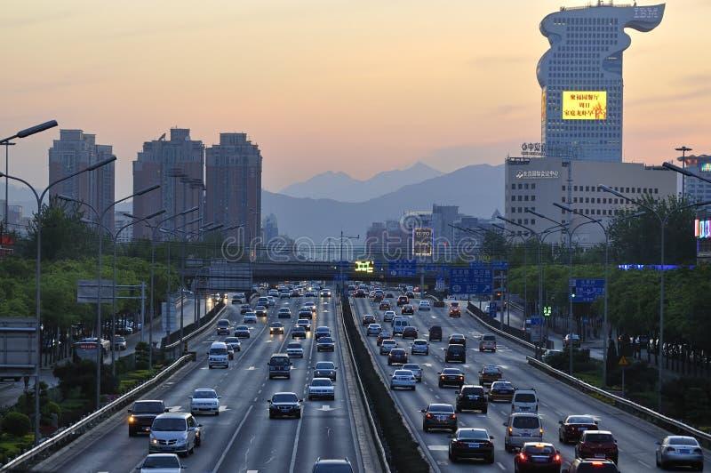 北京Pangu广场旅馆和路 免版税库存图片