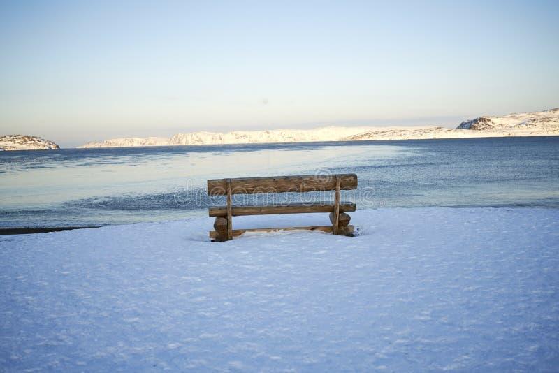 北冰洋日落  库存图片