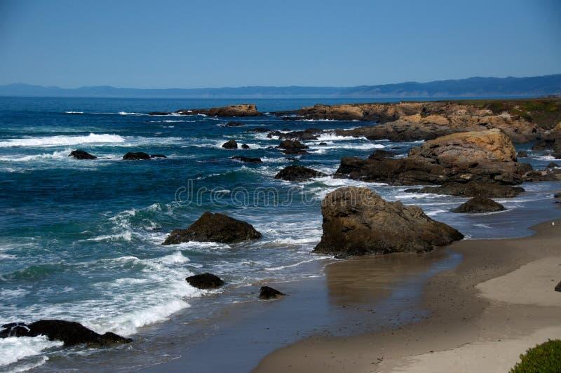 北加利福尼亚的海岸 库存照片