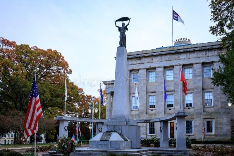 北卡罗来纳州议会大厦大厦在罗利街市 库存图片