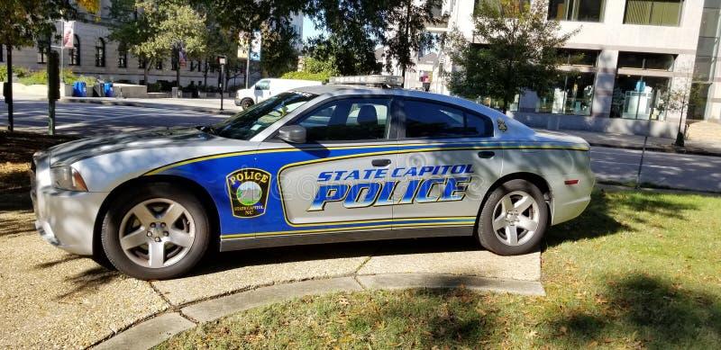 北卡罗来纳州议会大厦警车 库存图片