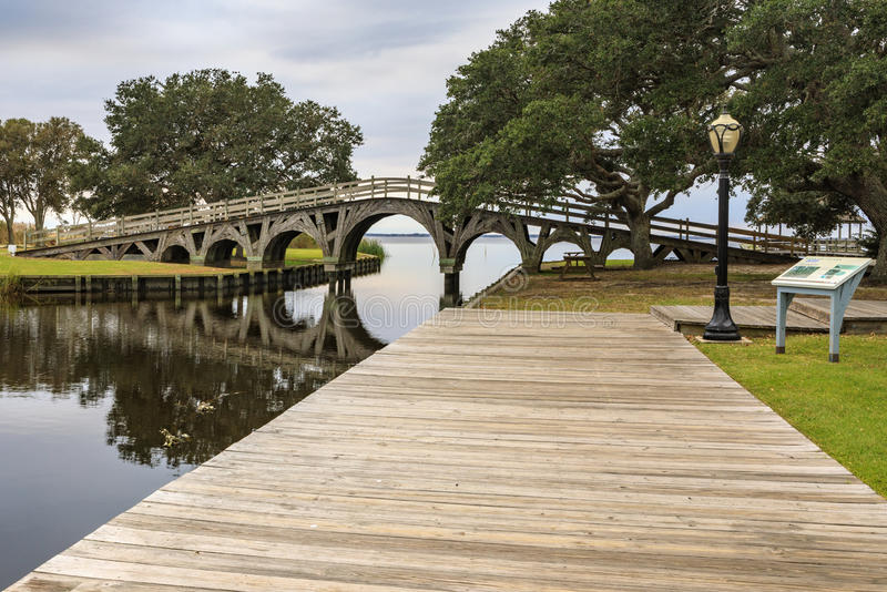 北卡罗来纳木桥花冠公园Currituck声音 图库摄影