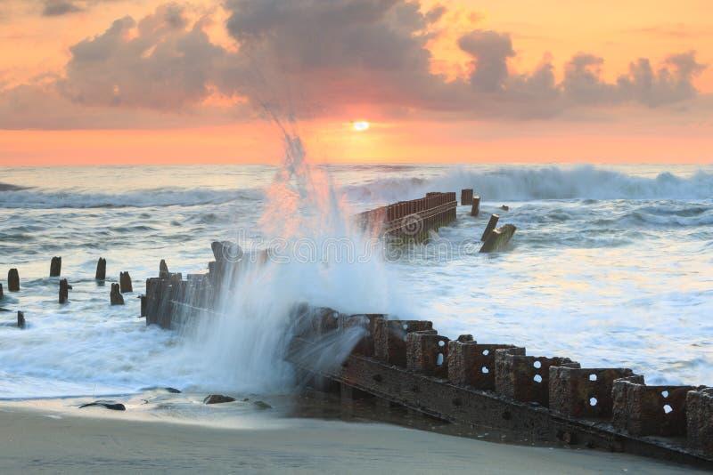 北卡罗来纳海洋日出 库存照片