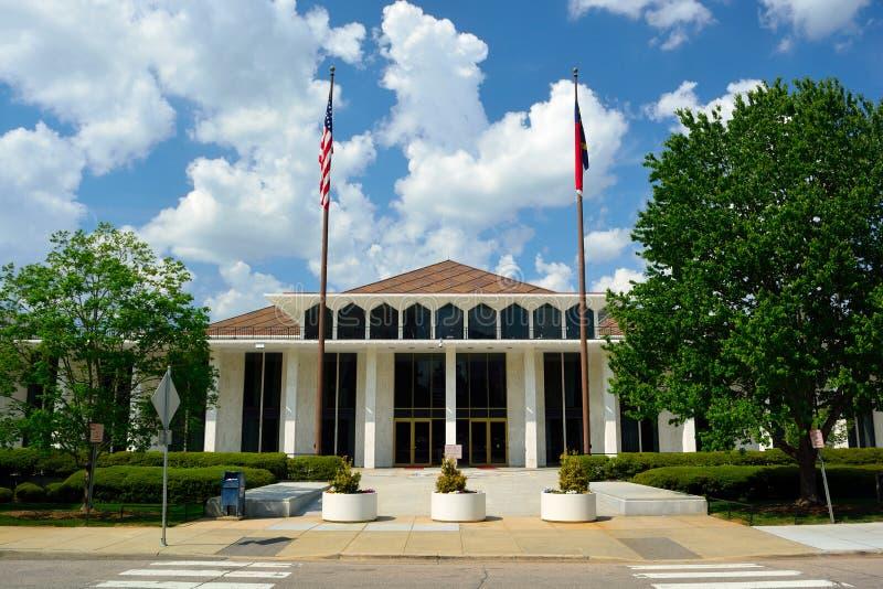 北卡罗来纳状态立法大厦在一个晴天 库存照片