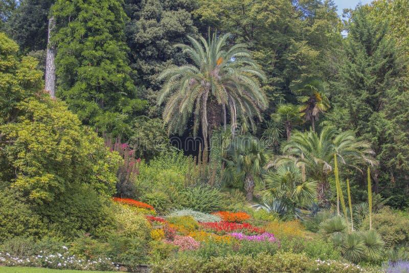 北意大利的意想不到的庭院 免版税库存照片