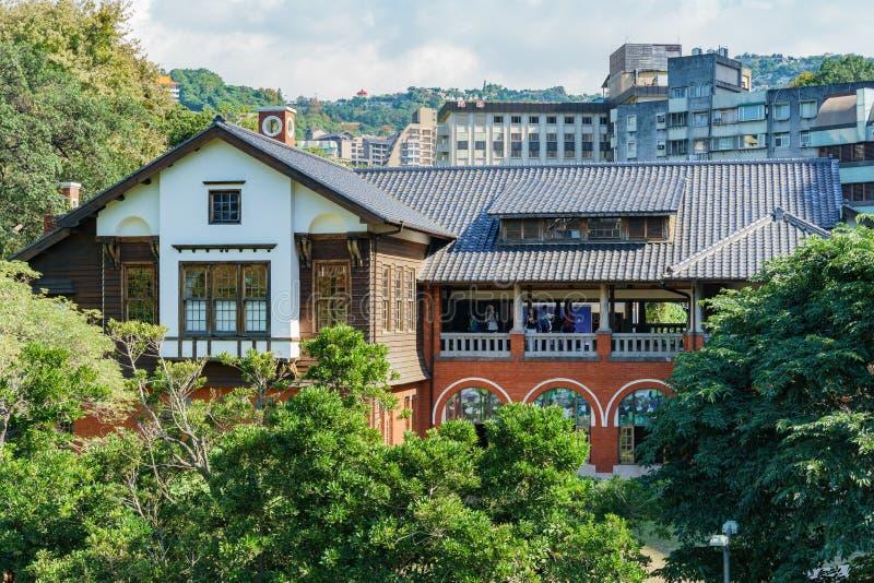 北投温泉博物馆的外视图 库存照片