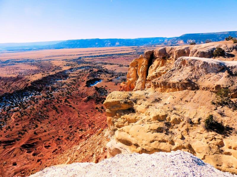 北新墨西哥红色沙漠  免版税库存照片