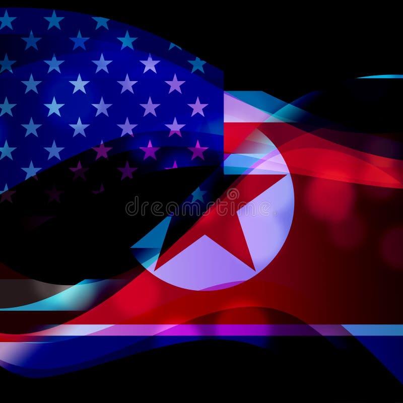 北朝鲜对美国冲突3d例证 皇族释放例证