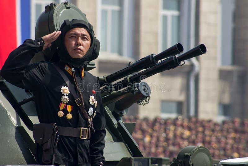 北朝鲜的战士 免版税图库摄影