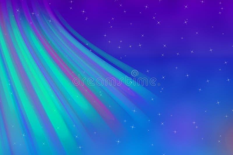 北极光的抽象颜色 向量例证
