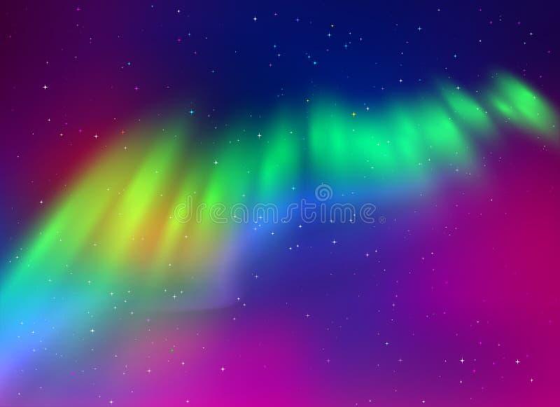 北极光背景 向量例证