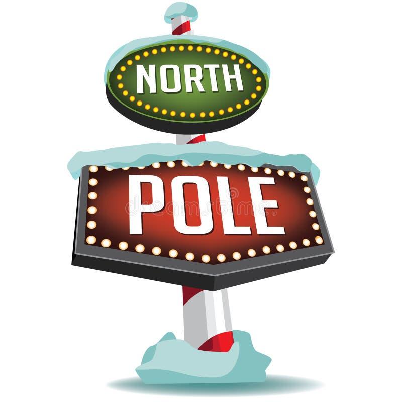 北极减速火箭的大门罩标志 向量例证