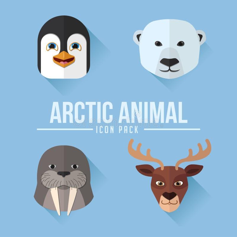 北极动物平的象组装 皇族释放例证