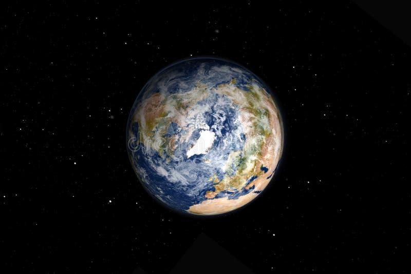 北极好的地球  向量例证