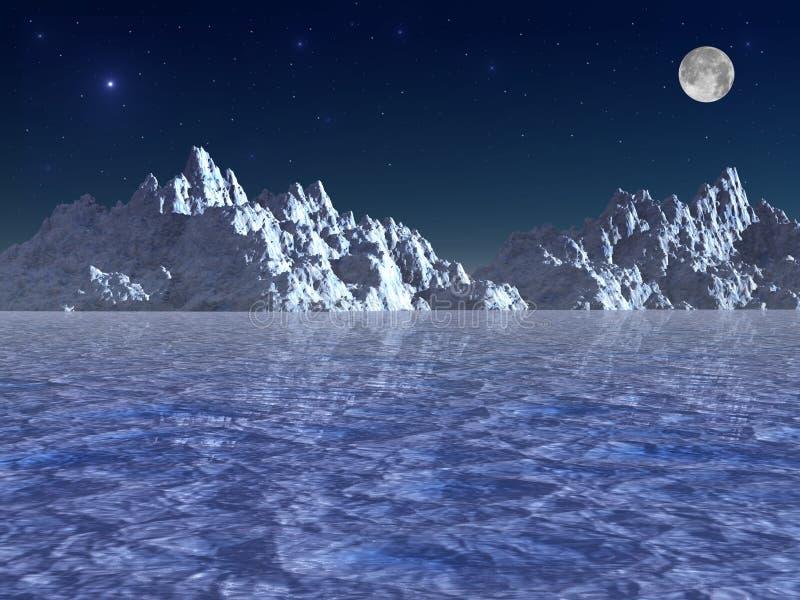 北极晚上 皇族释放例证
