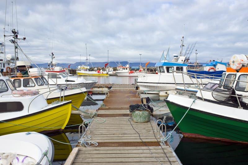 北极渔船队 库存图片