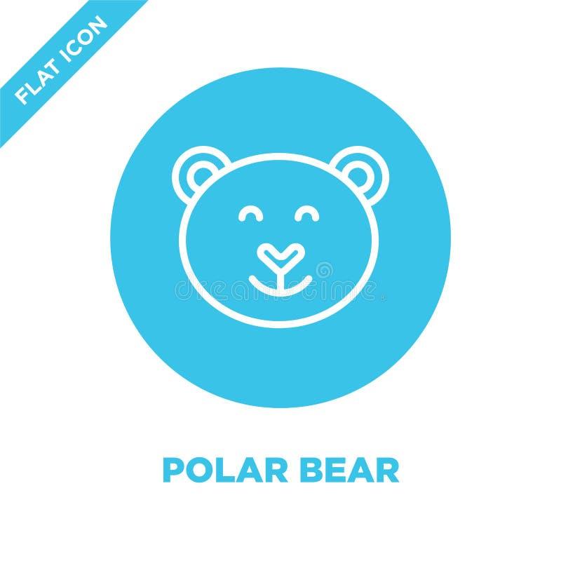 北极熊从季节汇集的象传染媒介 稀薄的线北极熊概述象传染媒介例证 线性标志为使用 向量例证