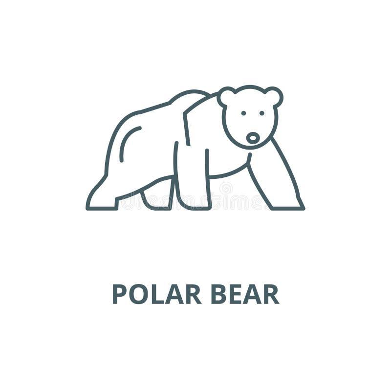 北极熊传染媒介线象,线性概念,概述标志,标志 库存例证