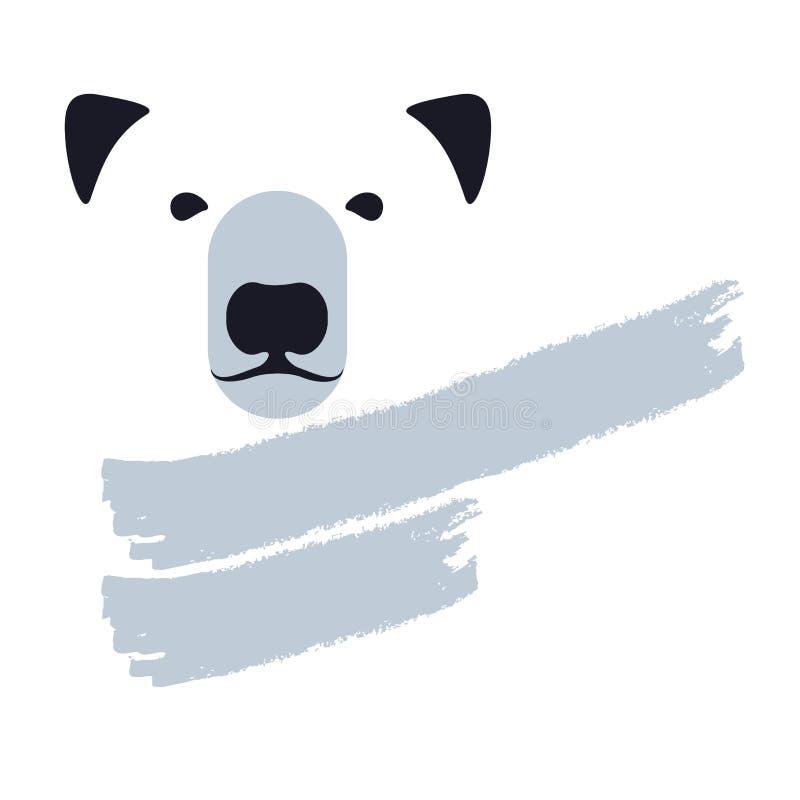北极熊商标 库存例证