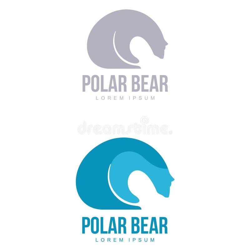 北极熊商标 向量例证